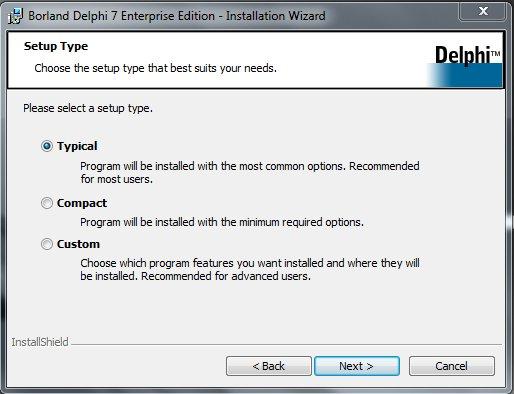 Delphi 7 Installation Обычная установка