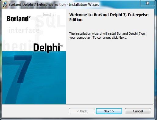 Delphi 7 Installation Приветствие