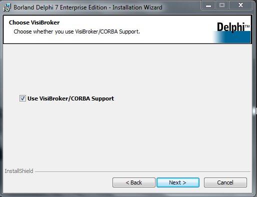 Delphi 7 Installation Use VisiBroker/CORBA Support