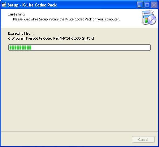 K Lite Codec Pack Процесс установки