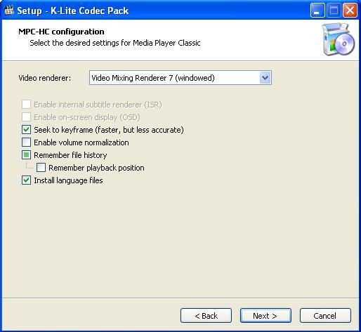 K Lite Codec Pack Установка настроек видео