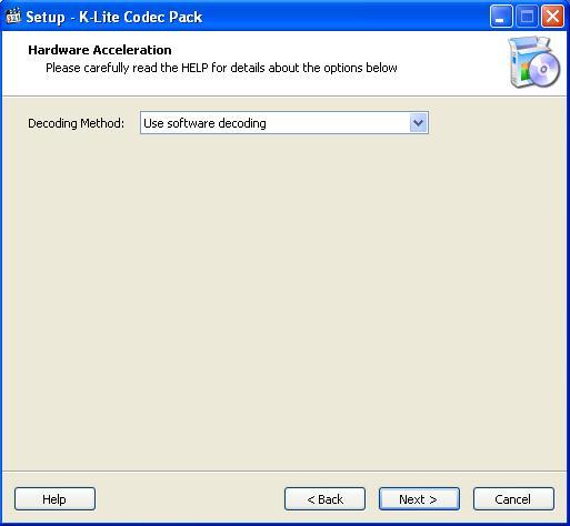 K Lite Codec Pack Выбор метода декодирования