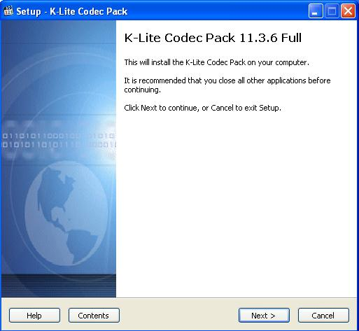 K Lite Codec Pack Запуск программы установки