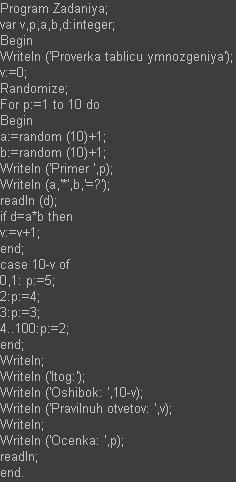 Программа для проведения тестов Pascal