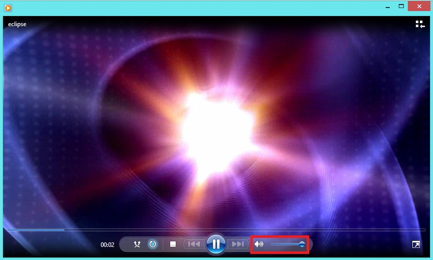 Windows Media Player. Видеопроигрыватель. Регулятор громкости