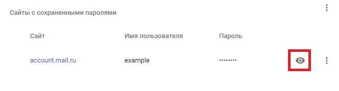 Chrome. Show password