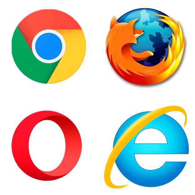 Браузеры: Google Chrome, Mozilla Firefox, Opera, Internet Explorer