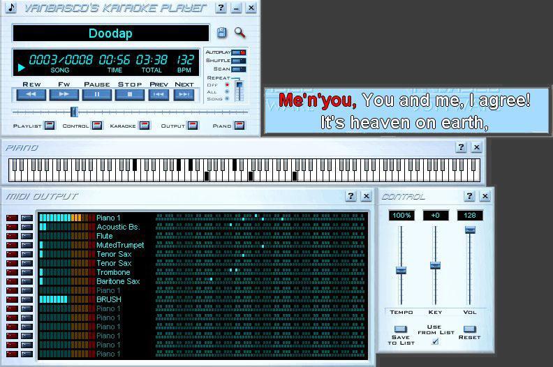 VanBasco's Karaoke Player - скриншот и фото программы
