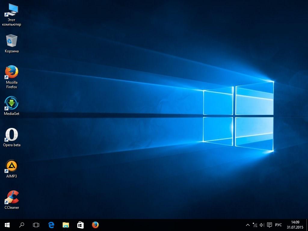 Windows 10 - фото рабочего стола