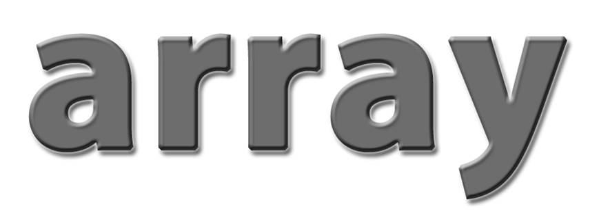 Надпись array