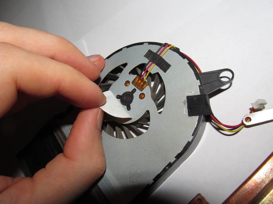 Как смазать вентилятор на ноутбуке